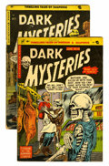 Golden Age (1938-1955):Horror, Dark Mysteries #18 and 20 Group (Master Publications, 1954)....(Total: 2 Comic Books)