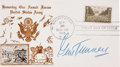 Boxing Collectibles:Autographs, Gene Tunney Signed First Day Cover....