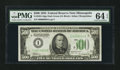 Small Size:Federal Reserve Notes, Fr. 2201-I $500 1934 Federal Reserve Note. Dark Green Seal. PMG Choice Uncirculated 64 EPQ.. ...