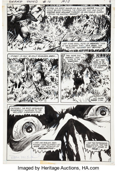 Original Comic ArtPanel Pages Bernie Wrightson Swamp Thing 10 Page 7
