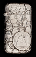 Silver Smalls:Match Safes, A GORHAM SILVER MATCH SAFE . Gorham Manufacturing Co., Providence,Rhode Island, 1889. Marks: (lion-anchor-G), STERLING, 4...
