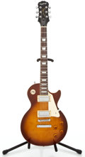 Musical Instruments:Electric Guitars, Recent Epiphone Les Paul Standard Sunburst Semi-Hollow BodyElectric Guitar #EE06013816...