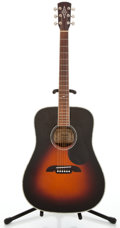 Musical Instruments:Acoustic Guitars, Alvarez AD80 Sunburst Acoustic Guitar #F408040166...