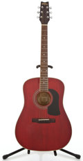Musical Instruments:Acoustic Guitars, Washburn D-11 Red Acoustic Guitar #980304...