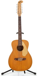 Musical Instruments:Acoustic Guitars, 1960s Fender Villager Natural 12 String Acoustic Guitar #27305...