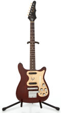 Musical Instruments:Electric Guitars, 1968 Epiphone Olympic Double Cherry Solid Body Electric Guitar #955140...