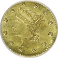 California Fractional Gold: , Undated(1854) 25C Liberty Round 25 Cents, BG-224,R.3--Damaged--NCS. UNC Details NGC Census: (0/17). PCGS Population(0/185...