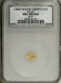 California Fractional Gold: , Undated(1854) 25C Liberty Round 25 Cents, BG-224, R.3, UNC Details.NCS. NGC Census: (0/17). PCGS Population (6/165). (#1...