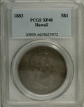 Coins of Hawaii: , 1883 $1 Hawaii Dollar XF40 PCGS. PCGS Population (85/306). NGC Census: (31/186). Mintage: 500,000. (#10995)...