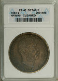 Coins of Hawaii: , 1883 $1 Hawaii Dollar--Cleaned--ANACS. XF45 Details. NGC Census:(32/154). PCGS Population (102/204). Mintage: 500,000. (#...