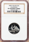 Proof Statehood Quarters, (3)2005-S 25C California Silver PR 70 Ultra Cameo NGC.... (Total: 3coins)