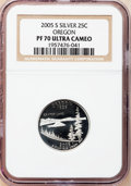 Proof Statehood Quarters, (3)2005-S 25C Oregon Silver PR 70 Ultra Cameo NGC. ... (Total: 3coins)