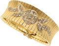 Estate Jewelry:Bracelets, Diamond, Gold Bracelet, U. Bellini. ...