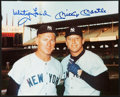 Baseball Collectibles:Photos, Whitey Ford and Mickey Mantle Multi Signed Photograph....