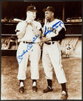 Baseball Collectibles:Photos, Mickey Mantle and Willie Mays Multi Signed Photograph. ...