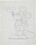 Animation Art:Production Drawing, Mickey Mouse Iconic Sketch Original Art and Early Publication (Bibo and Lang, 1931).... (Total: 2 Items)