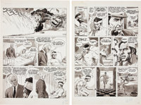 Russ Heath Thrilling Adventure Stories #2 Story Pages 4-5 (Atlas/Seaboard, 1975).... (Total: 2 Original Art)