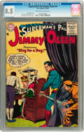 Golden Age (1938-1955):Superhero, Superman's Pal Jimmy Olsen #4 (DC, 1955) CGC VF+ 8.5 Off-white to white pages....