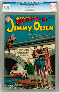 Superman's Pal Jimmy Olsen #3 (DC, 1955) CGC VF+ 8.5 Off-white to white pages