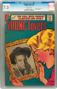 Young Lovers #18 (Charlton, 1957) CGC VF- 7.5 Off-white pages