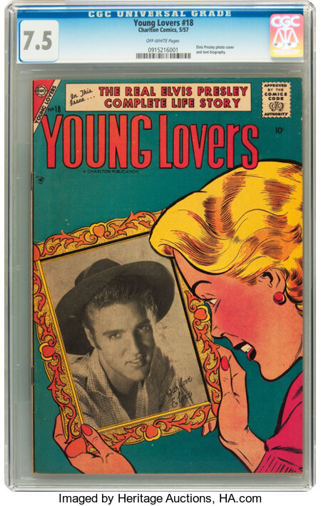 Young Lovers #18 (Charlton, 1957) CGC VF- 7.5 Off-white pages....