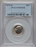 Roosevelt Dimes: , 1970-D 10C MS65 Full Bands PCGS. PCGS Population (5/12). NGCCensus: (3/22). Mintage: 754,942,080. (#85138)...