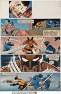 Original Comic Art:Panel Pages, Frank Miller, Joe Rubinstein, and Steve Oliff Wolverine #2Hand-Painted Page 18 Original Art (Marvel, 1982)....
