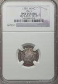 Early Half Dimes: , 1795 H10C --Bent, Repaired--NGC Details. Fine. LM-3. NGC Census:(8/311). PCGS Population (12/454). Mintage: 78,600. Numism...