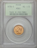 Liberty Quarter Eagles: , 1878-S $2 1/2 MS61 PCGS. PCGS Population (37/106). NGC Census:(129/178). Mintage: 178,000. Numismedia Wsl. Price for probl...