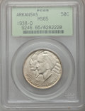 Commemorative Silver: , 1938-D 50C Arkansas MS65 PCGS. PCGS Population (203/124). NGCCensus: (163/51). Mintage: 3,155. Numismedia Wsl. Price for p...