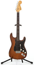 Musical Instruments:Electric Guitars, 1970s Fender Stratocaster Mocha Solid Body Electric Guitar#S961896...