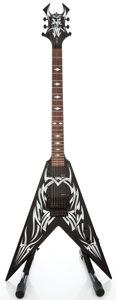 Musical Instruments:Electric Guitars, B.C. Rich Kerry King Black W. Graphic Solid Body Electric Guitar#31300376...