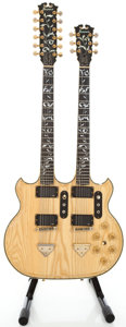 Musical Instruments:Electric Guitars, 1976 Ibanez 2670 Twin Neck Natural Solid Body Electric Guitar#H766652...