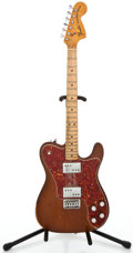 Musical Instruments:Electric Guitars, 1973 Fender Telecaster Deluxe Mocha Solid Body Electric Guitar#382541...