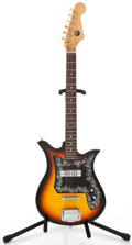 Musical Instruments:Electric Guitars, 1960's Kay Teisco Copy Sunburst Solid Body Electric Guitar#12734...