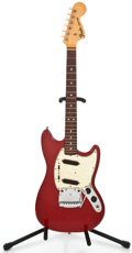 Musical Instruments:Electric Guitars, 1966 Fender Mustang Dakota Red Solid Body Electric Guitar#195069...