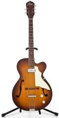 Musical Instruments:Electric Guitars, 1960s Kay N-2 Sunburst Semi-Hollow Body Electric Guitar ...