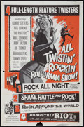 "Movie Posters:Rock and Roll, All Twistin' Rockin' Rollorama Show (American International, 1961).One Sheet (27"" X 41""). Rock and Roll.. ..."