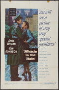 "Movie Posters:Drama, Miracle in the Rain & Other Lot (Warner Brothers, 1956). One Sheet (27"" X 41""). Drama.. ... (Total: 2 Items)"