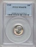 Roosevelt Dimes: , 1948 10C MS66 Full Bands PCGS. PCGS Population (133/23). NGCCensus: (136/55). Mintage: 74,950,000. (#85088)...