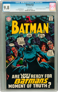 Batman #211 Twin Cities pedigree (DC, 1969) CGC NM/MT 9.8 White pages