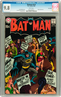 Batman #214 Twin Cities pedigree (DC, 1969) CGC NM/MT 9.8 White pages