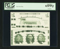 """Small Size:Group Lots, Giori """"Washington"""" Face and Back Test Notes. Uncut Pair. PCGS Gem New 65PPQ.. ..."""