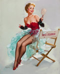 Pin-up and Glamour Art, GIL ELVGREN (American, 1914-1980). Admiring Miss Sylvania,circa 1955. Oil on canvas. 30 x 24 in.. Signed lower left. ...