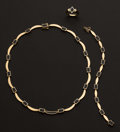 Estate Jewelry:Suites, Onyx & 18k Gold Suite. ... (Total: 3 Items)