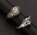 Estate Jewelry:Rings, Two Antique Diamond Rings. ... (Total: 2 Items)
