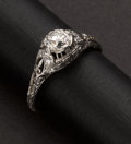 Estate Jewelry:Rings, Antique Diamond Ring. ...