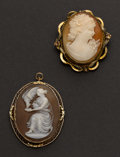 Estate Jewelry:Cameos, Two Cameos. ... (Total: 2 Items)