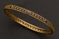 Estate Jewelry:Bracelets, Sapphire & Gold Bangle. ...