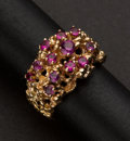 Estate Jewelry:Rings, Ladies 14k Gold & Ruby Ring. ...